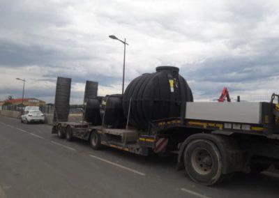 Livraison et pose d'un filtre pour assainissement de 12 équivalents habitants sur les monts de Lacaune