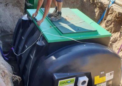 Pose d'une micro-station d'épuration de 9 équivalent habitants avec rabattement de nappe et dalle d'amarrage